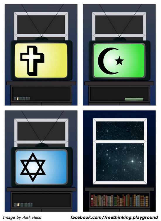 Viedokļi, diskusija par reliģijām, vēsturi un zinātni Religijas