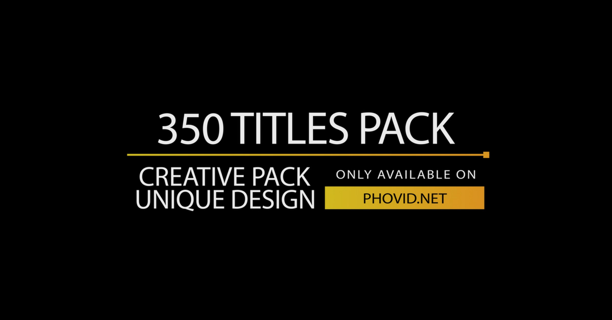 350 Titles - After Effects Template - Free